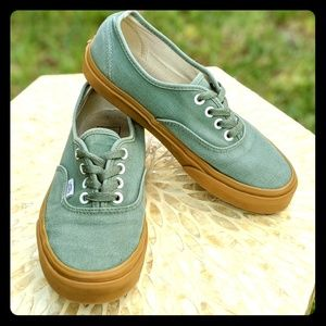 Vans Authentic Sneakers Duck Green/Gum Skate Shoes